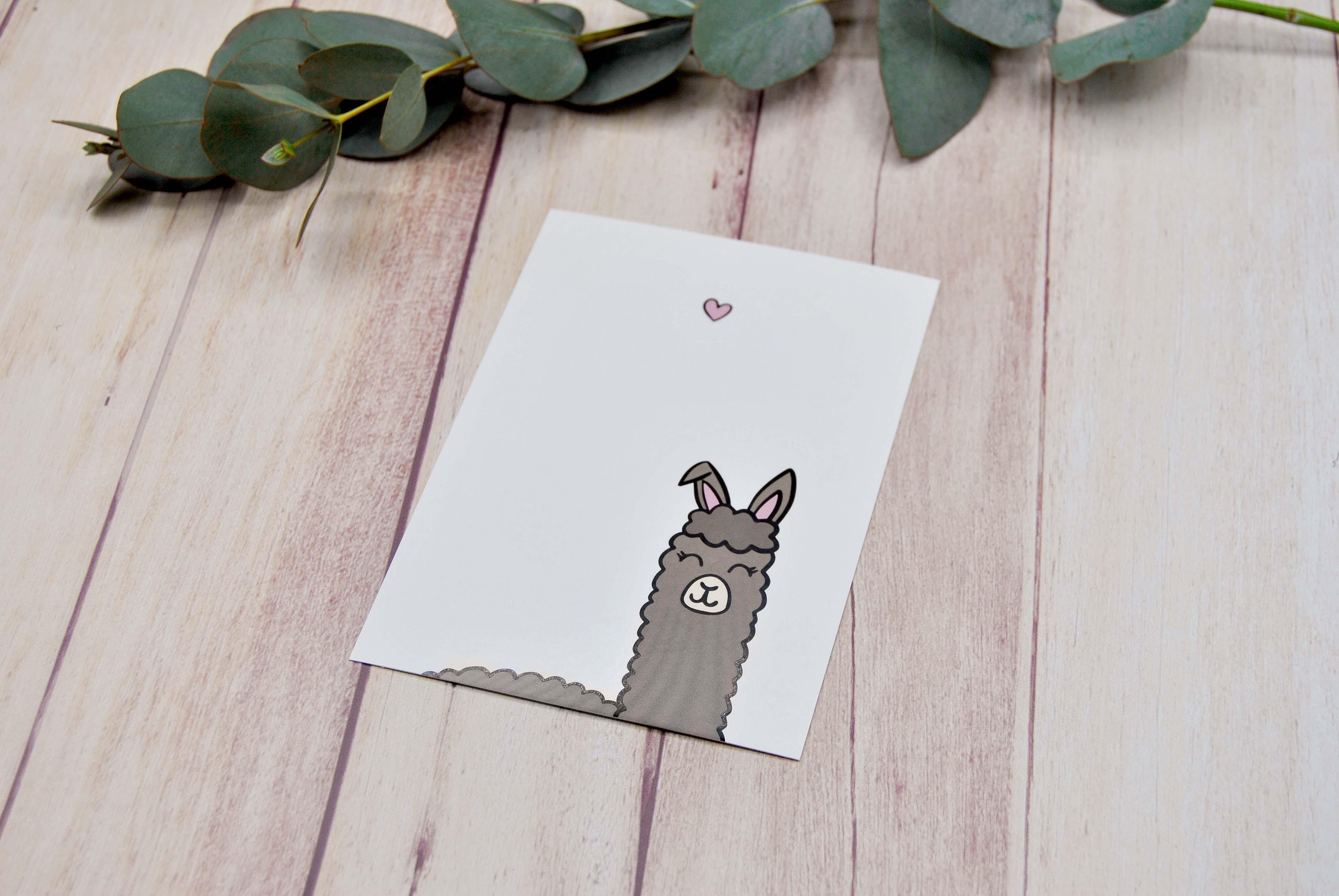 Grußkarte Alpaka Love
