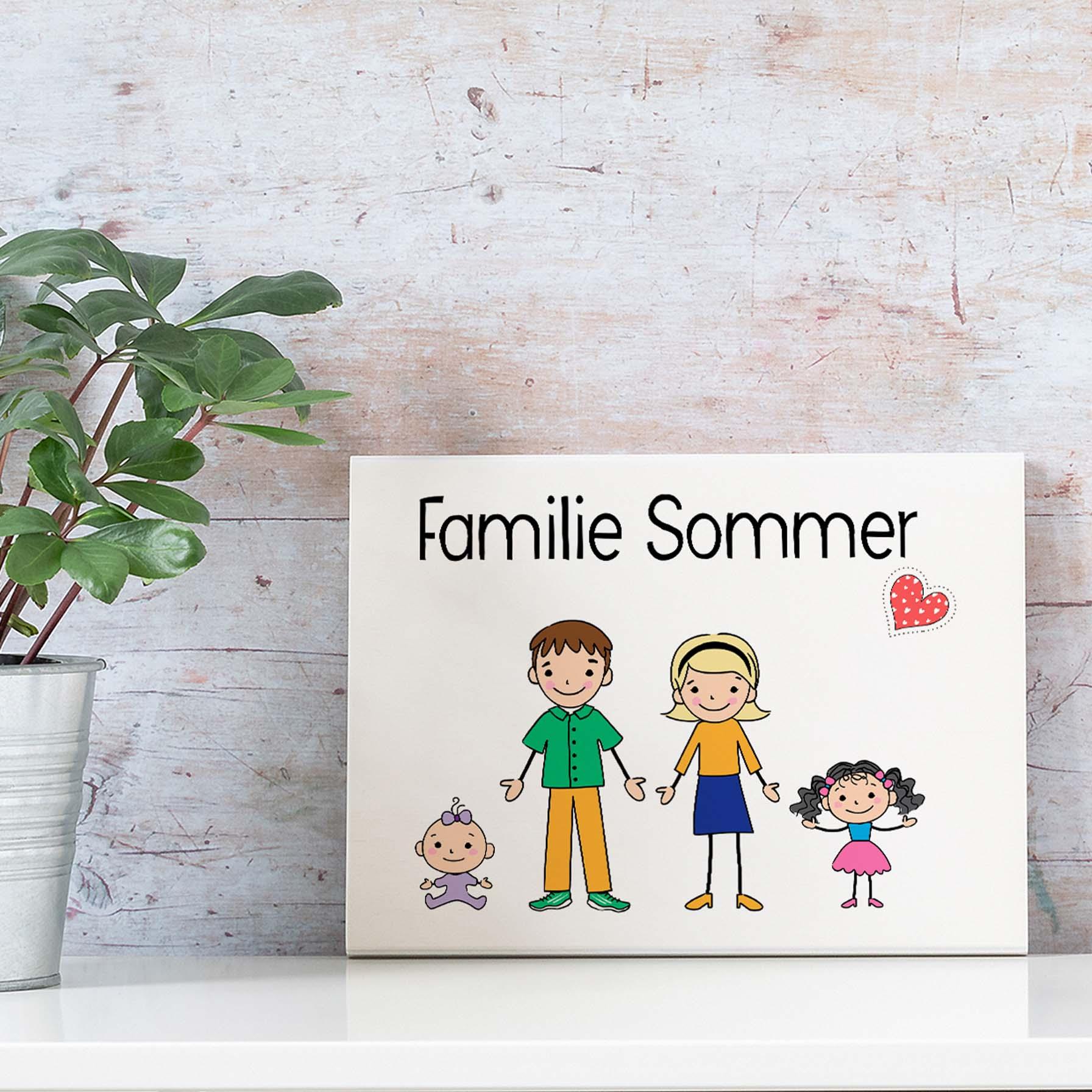 Türschild Familie personalisiert