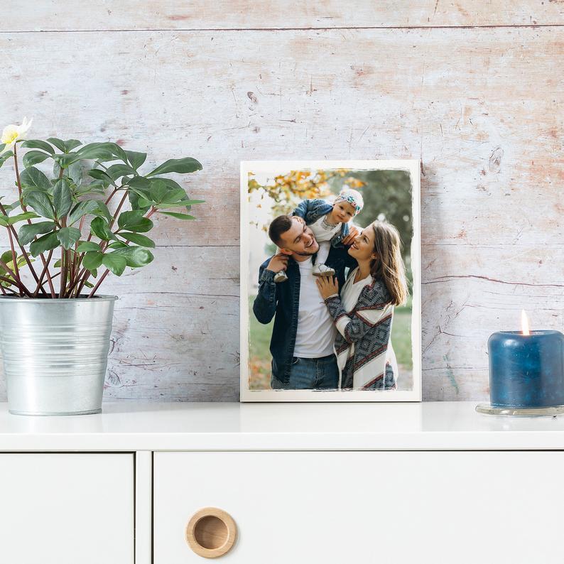 Dein Foto auf Holz.