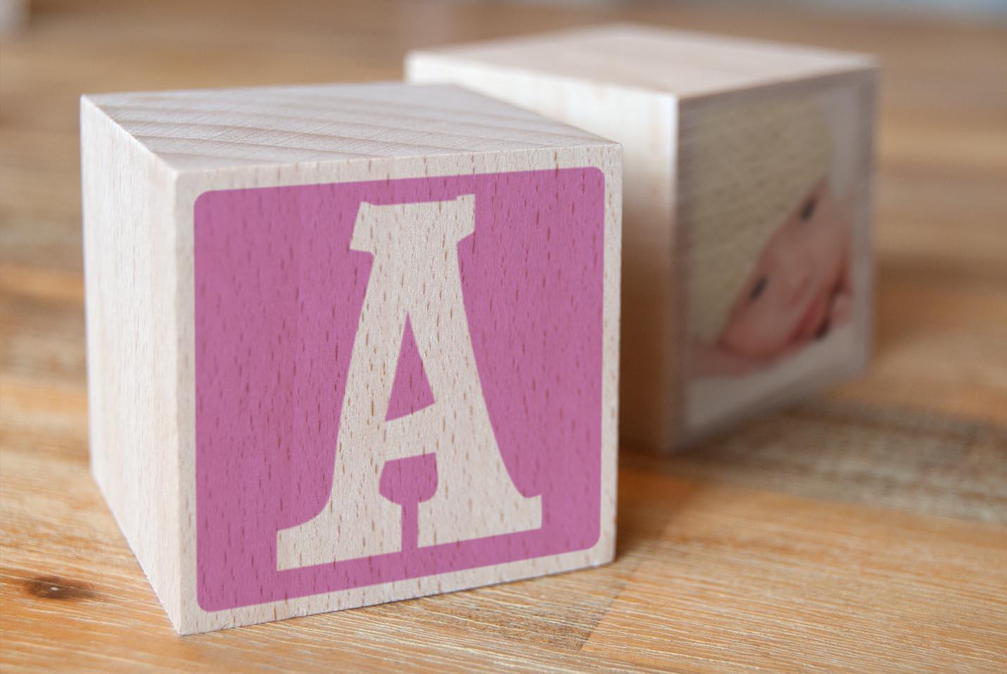 Holzwürfel Baby