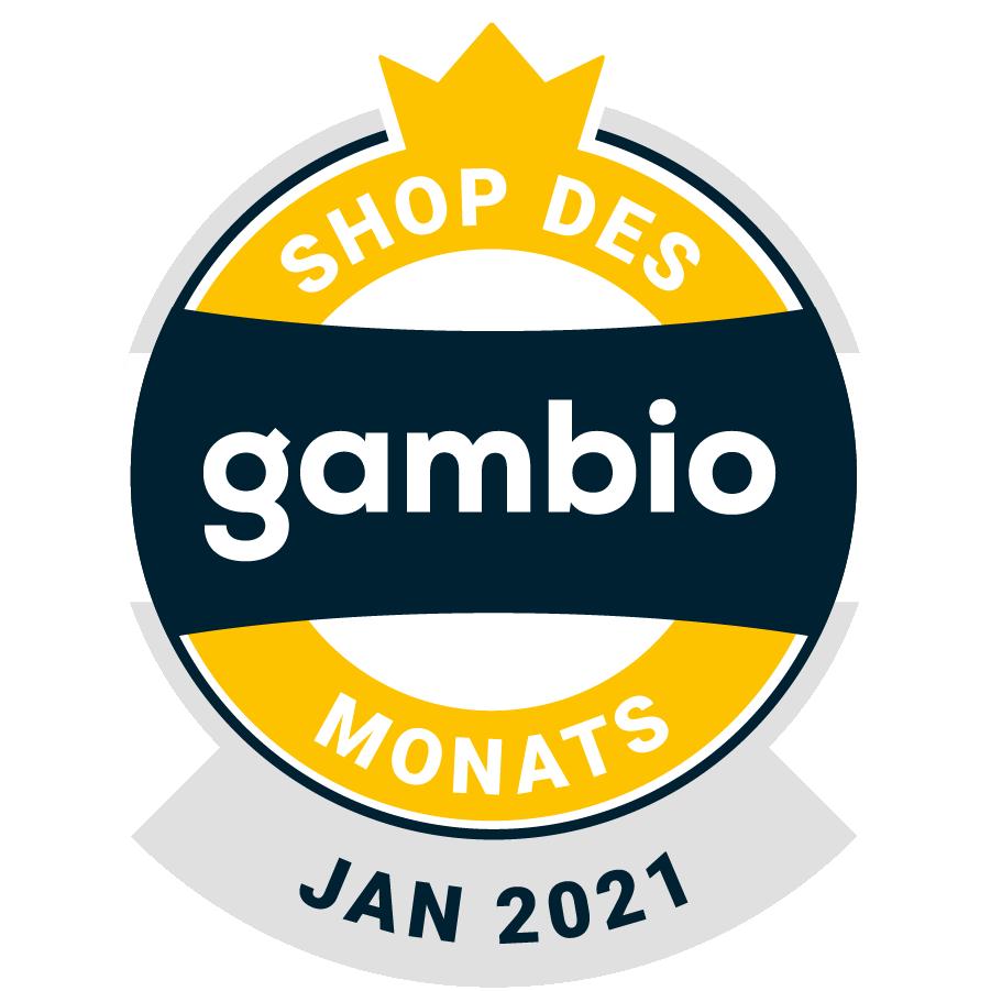 Gambio - Shop des Monats - Januar 2021