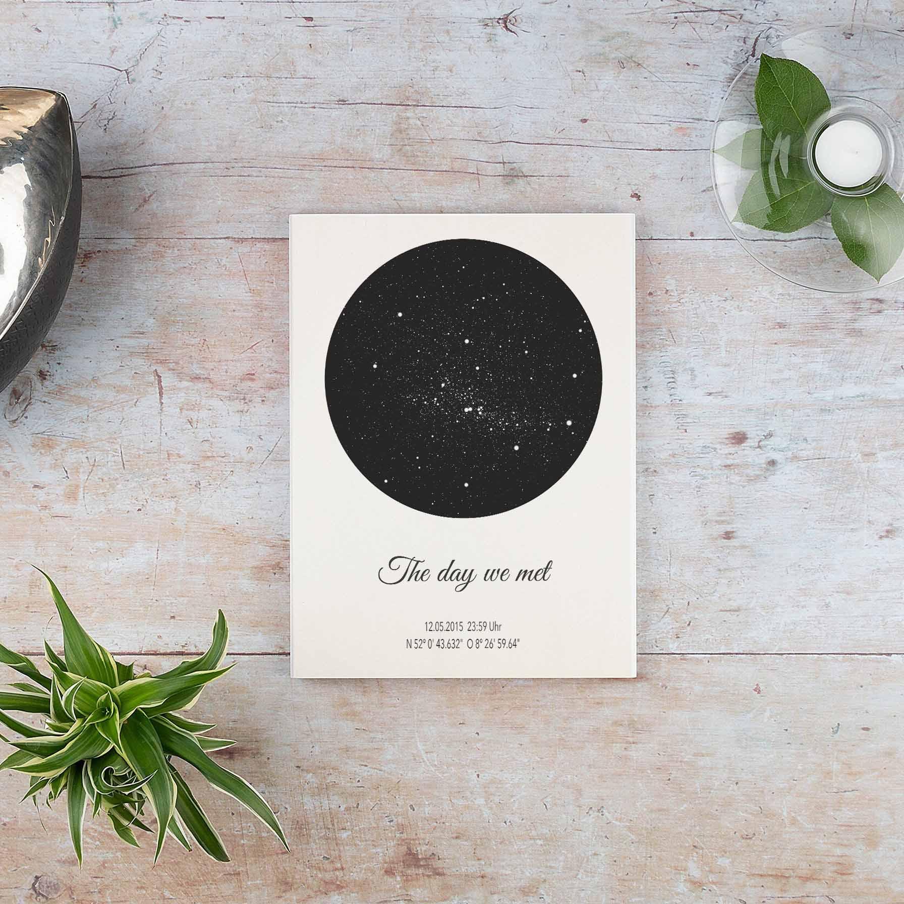 Personalisierte Sternenkarte